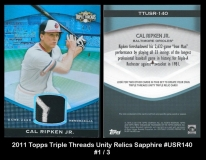 2011 Topps Triple Threads Unity Relics Sapphire #USR140