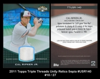 2011 Topps Triple Threads Unity Relics Sepia #USR140