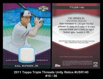 2011 Topps Triple Threads Unity Relics #USR140