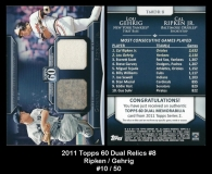 2011 Topps 60 Dual Relics #8