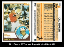 2011 Topps 60 Years of Topps Original Back #91