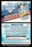 2011 Topps Diamond Giveaway #TDG23