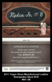2011 Topps Glove Manufactured Leather Nameplates Black #CR
