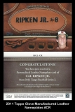 2011 Topps Glove Manufactured Leather Nameplates #CR