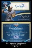 2011 Topps Las Vegas Summit Autographs #8