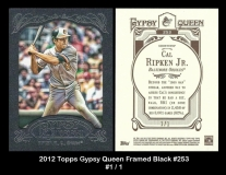 2012 Topps Gypsy Queen Framed Black #253