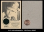2012 Authenticated Ink 1981 Penny #NNO