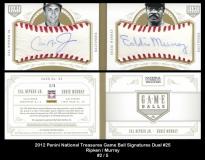2012 Panini National Treasures Game Ball Signatures Dual #25