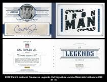 2012 Panini National Treasures Legends Cut Signature Jumbo Materials Nickname #88