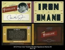 2012 Prime Cuts Timeline Booklets Signatures Names #4