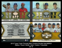 2012 Topps Triple Threads Relic Combos Double Gold #DRC6