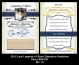 2012 Leaf Legends of Sport Signature Swatches Silver #SSCR1