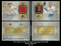 2013 Topps Five Star Dual Patch Autograph Books #RM