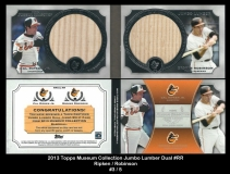 2013 Topps Museum Collection Jumbo Lumber Dual #RR