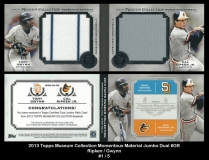 2013 Topps Museum Collection Momentous Material Jumbo Dual #GR