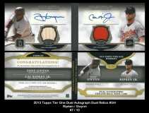 2013 Topps Tier One Dual Autograph Dual Relics #GH