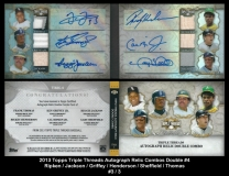 2013 Topps Triple Threads Autograph Relic Combos Double #4