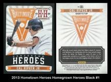 2013 Hometown Heroes Homegrown Heroes Black #1