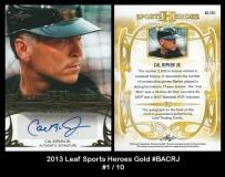 2013 Leaf Sports Heroes Gold #BACRJ