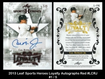 2013 Leaf Sports Heroes Loyalty Autographs Red #LCRJ