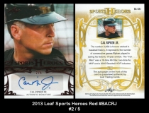 2013 Leaf Sports Heroes Red #BACRJ