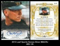 2013 Leaf Sports Heroes Silver #BACRJ