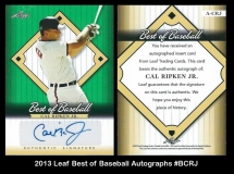 2013 Leaf Best of Baseball Autographs #BCRJ