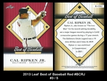 2013 Leaf Best of Baseball Red #BCRJ