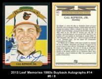 2013 Leaf Memories 1980s Buyback Autographs #14