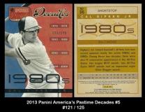 2013 Panini Americas Pastime Decades #5