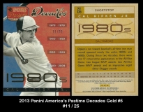 2013 Panini Americas Pastime Decades Gold #5