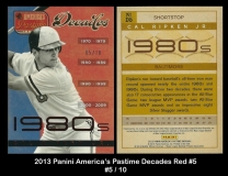2013 Panini Americas Pastime Decades Red #5