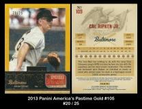 2013 Panini Americas Pastime Gold #105