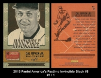 2013 Panini Americas Pastime Invincible Black #8