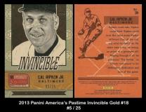 2013 Panini Americas Pastime Invincible Gold #18