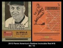 2013 Panini Americas Pastime Invincible Red #18