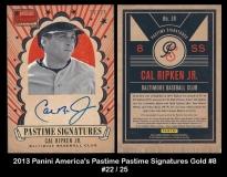 2013 Panini Americas Pastime Pastime Signatures Gold #8