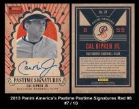 2013 Panini Americas Pastime Pastime Signatures Red #8