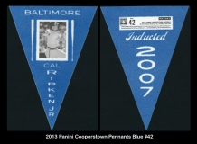 2013 Panini Cooperstown Pennants Blue #42