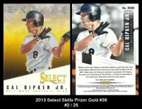 2013 Select Skills Prizm Gold #36