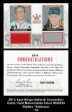 2013 Sportkings National Convention Game Used Memorabilia Silver #SKR30