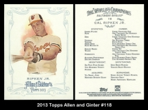 2013 Topps Allen and Ginter #118