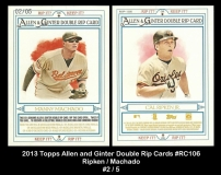 2013 Topps Allen and Ginter Double Rip Cards #RC106