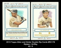 2013 Topps Allen and Ginter Double Rip Cards #RC178