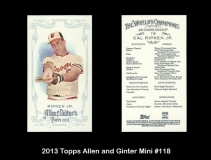 2013 Topps Allen and Ginter Mini #118