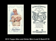 2013 Topps Allen and Ginter Mini A and G Back #118
