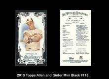 2013 Topps Allen and Ginter Mini Black #118