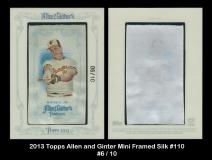 2013 Topps Allen and Ginter Mini Framed Silk #110