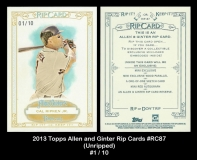 2013 Topps Allen and Ginter Rip Cards #RC87 Unripped