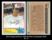 2013 Topps Archives 1983 All-Stars Autographs #CR